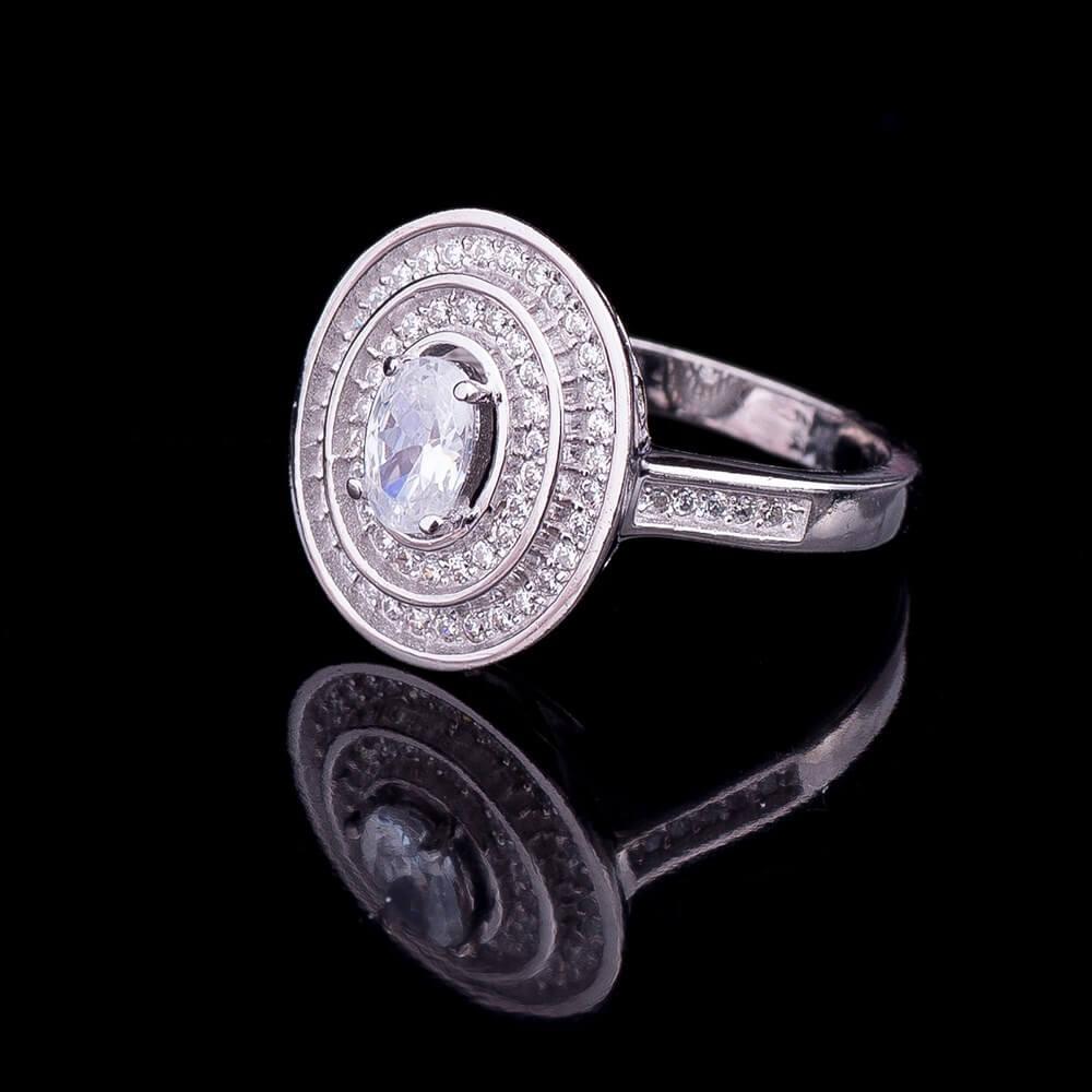 кольцо серебро с гранатом