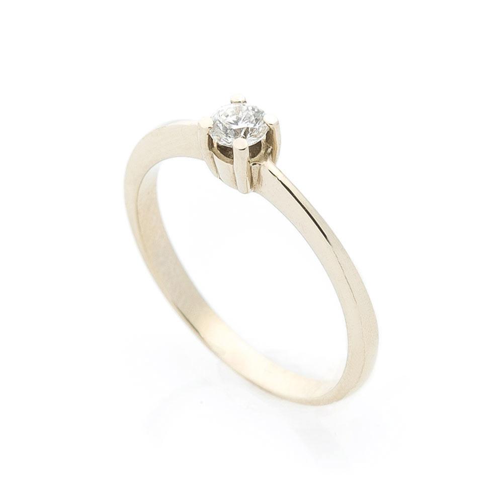 Золотое помолвочное кольцо (бриллианты)