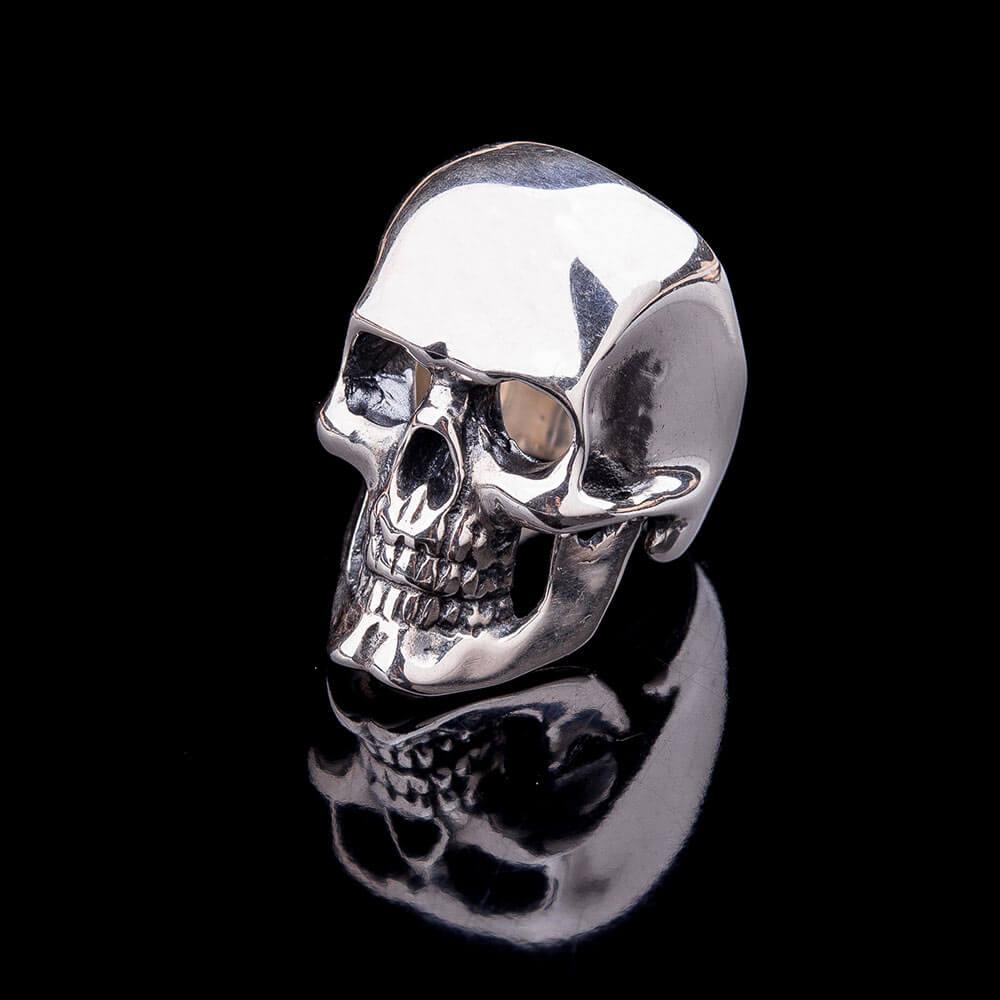 кольцо серебро череп
