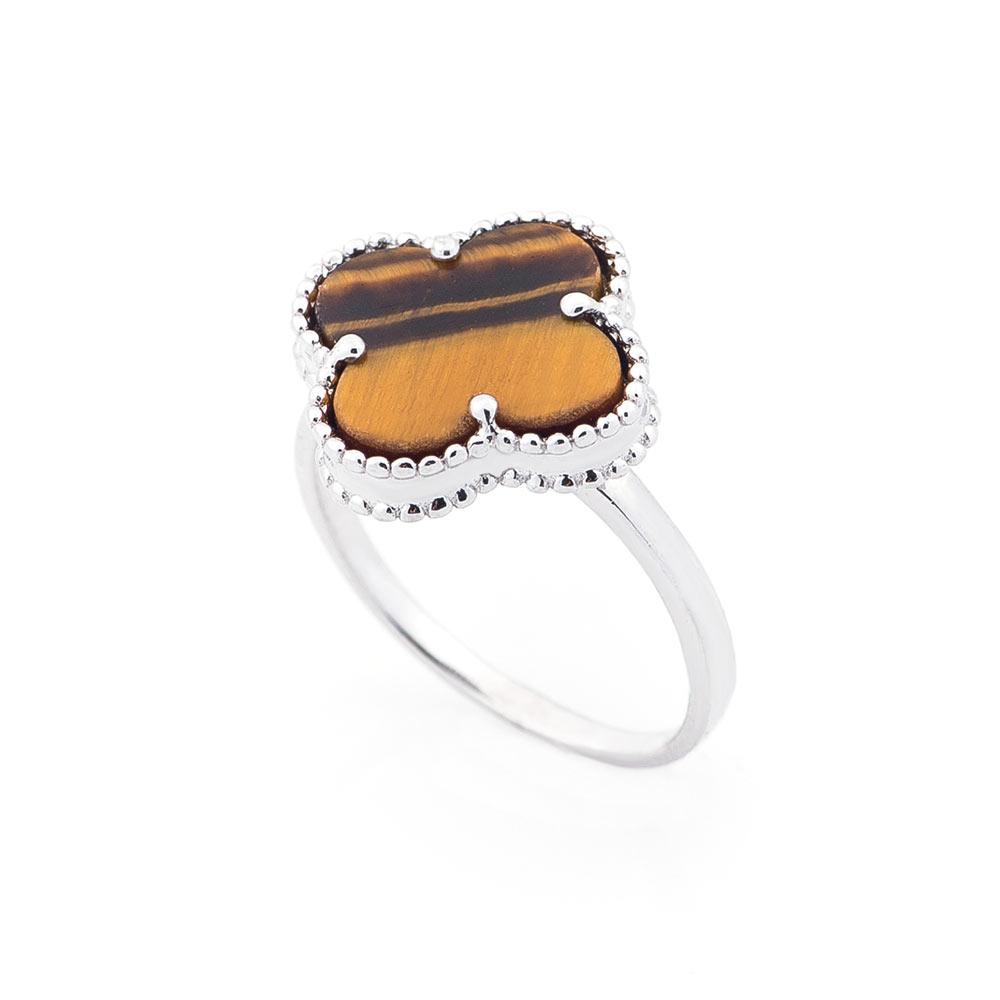Серебряное кольцо (тигровый глаз)