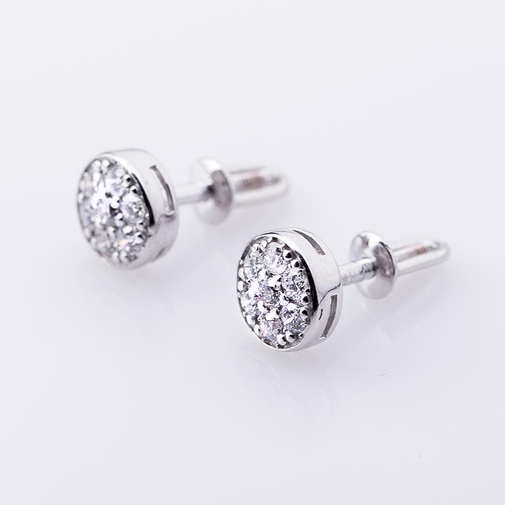 Сережки гвоздики с бриллиантами