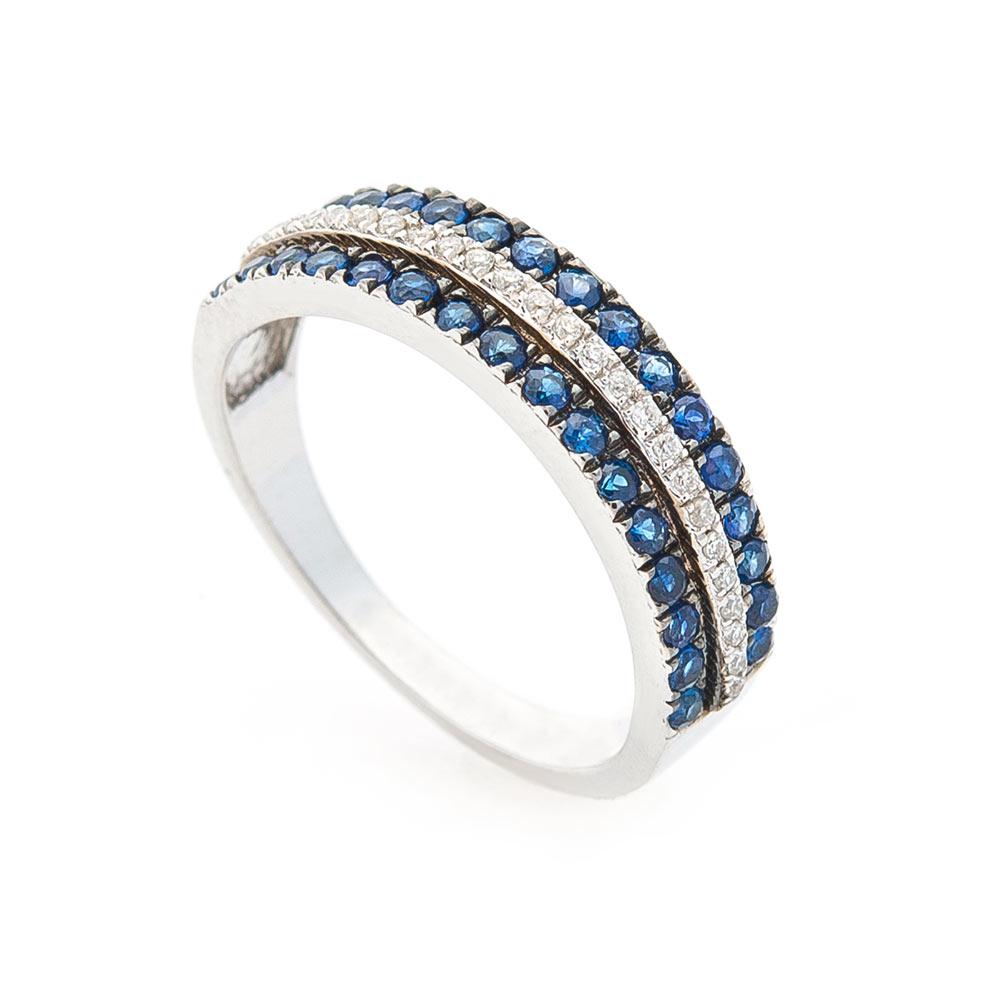 Золотое кольцо (сапфир, бриллиант)