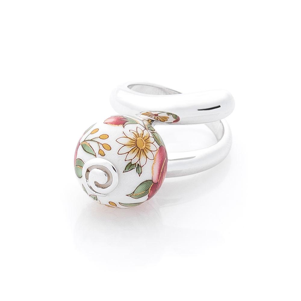Серебряное кольцо (им. керамика)