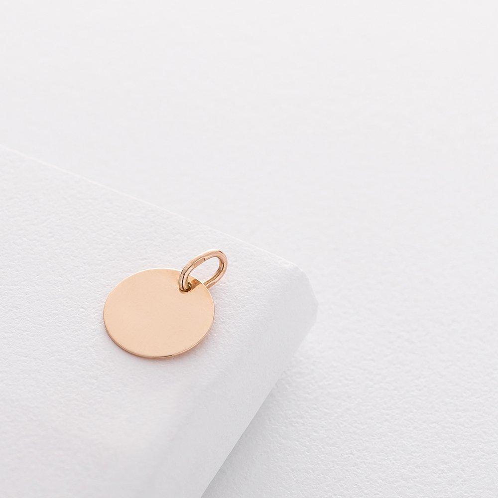 Кулон для гравировки в красном золоте (14 мм) п03101
