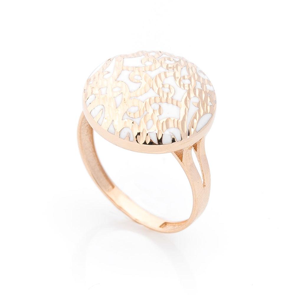 Эксклюзивное золотое кольцо с эмалью