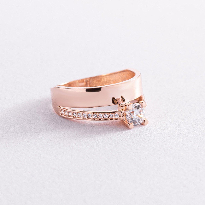 Помолвочное золотое кольцо с фианитами к05735