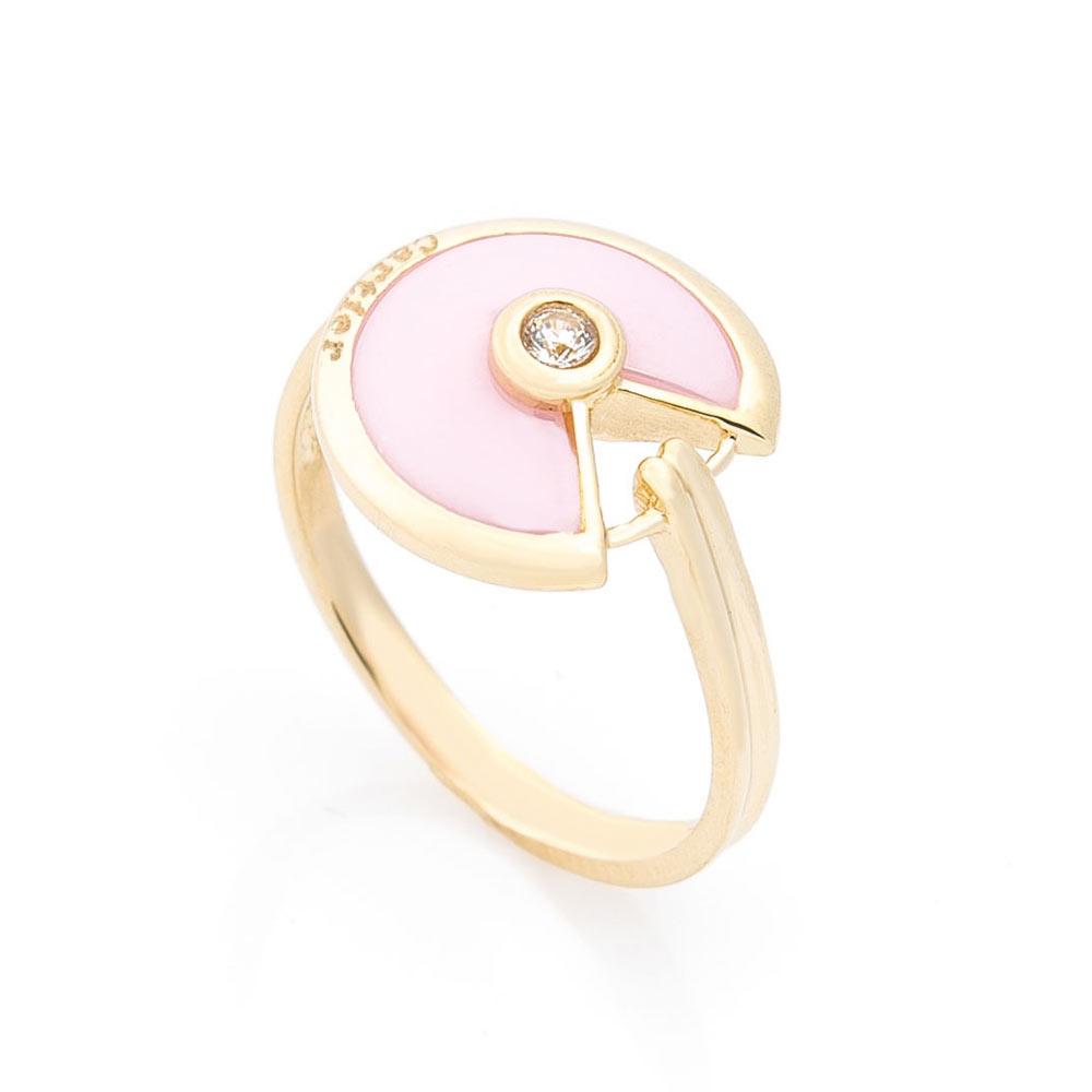 Золотое кольцо (керамика, фианит)