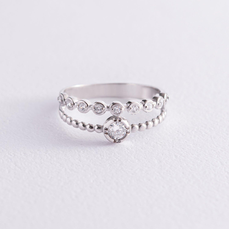 Серебряное кольцо с фианитами 1225/1р-CZ