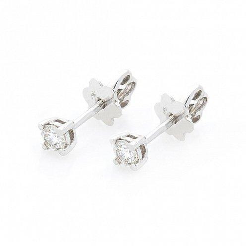 e28fe97599d6 Золотые серьги-пусеты с бриллиантами - купить Золотые серьги-пусеты ...