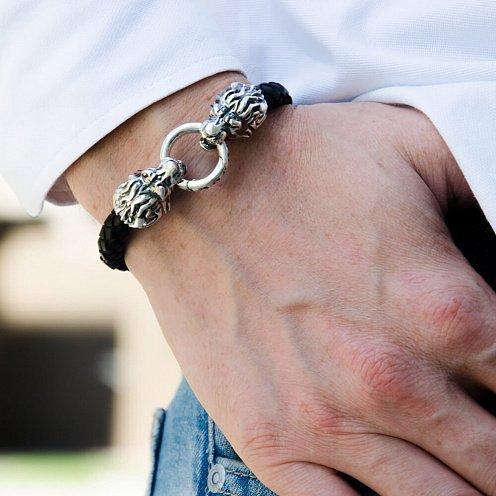 Срібні чоловічі браслети 2