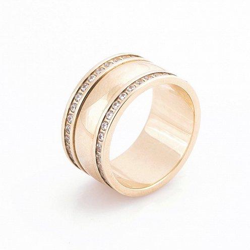 Золота обручка з фіанітами - купити Золота обручка з фіанітами в ... 47ec61ccde9fa