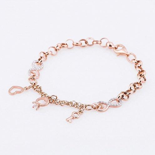 Жіночий золотий браслет з сердечком ec84a3fc95758